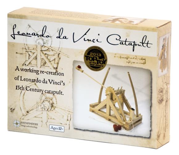 Pathfinders puidust ehituskomplekt Leonardo da Vinci kiviheitemasin