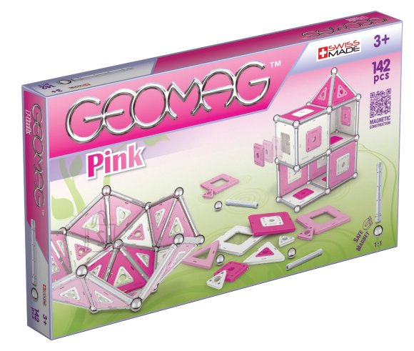 Geomag magnetkonstruktor Roosa 142 tk