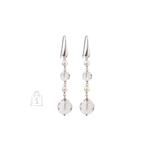 Siselly Hõbekõrvarõngad Mäekristall ja pärlid