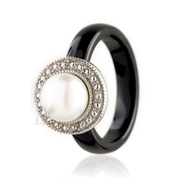 Siselly Keraamika ja pärliga 925 hõbesõrmus