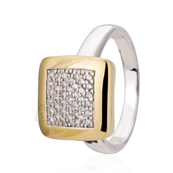 Siselly Kullaga kaetud 925 hõbesõrmus