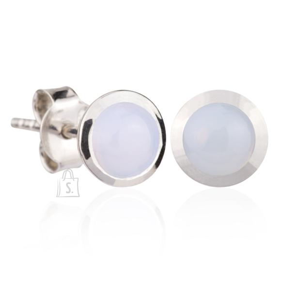 Siselly 925 Hõbekõrvarõngad valge Opaal nanokristalliga