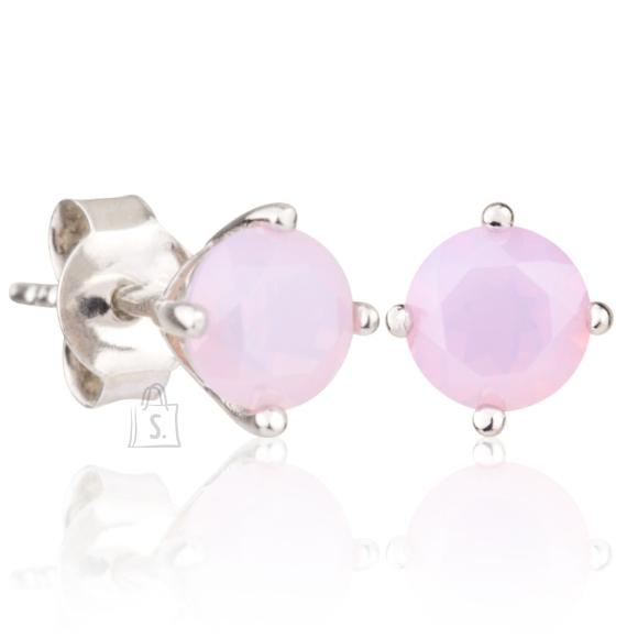 Siselly 925 Hõbekõrvarõngad roosa Opaal nanokristalliga