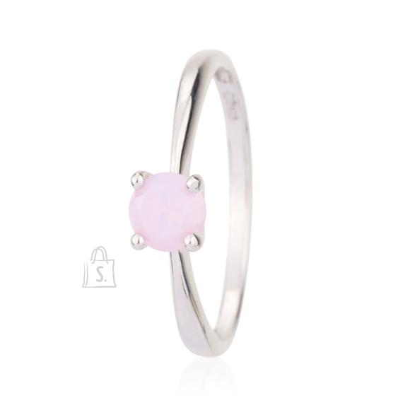 Siselly 925 Hõbesõrmus roosa Opaal Nanokristalliga