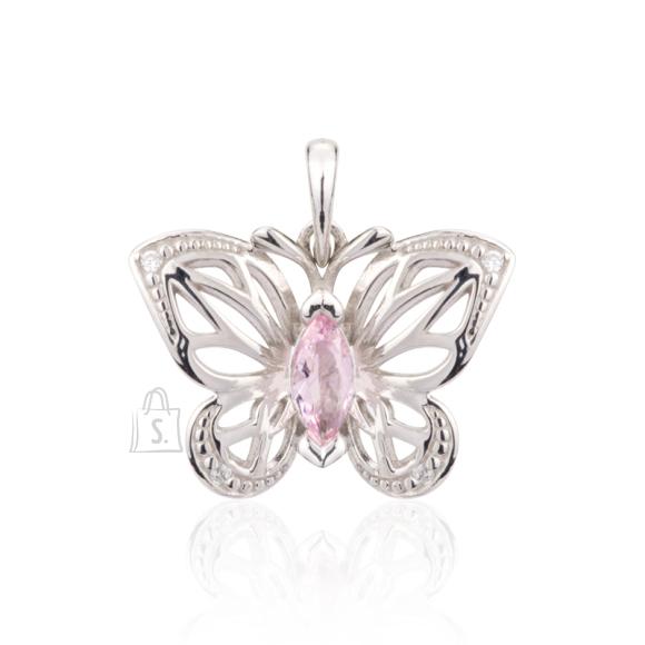 Siselly 925 Hõberipats roosa Nanokristalliga