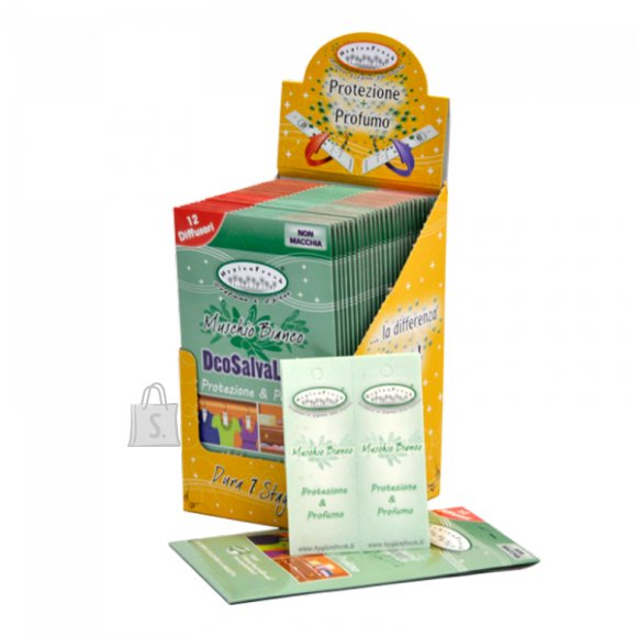 HygienFresh Koisid tõrjuvad lehed, valge muskuse lõhnaga. Pakis 12 tk.