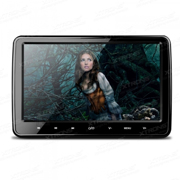 """10.1"""" Tolline HD peatoe-ekraan autosse, integreeritud DVD mängija, HDMI, SD ja USB sisenditega"""