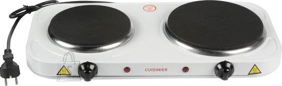Cuisinier Deluxe lauapliit 2 plaadiga 2500W, valge