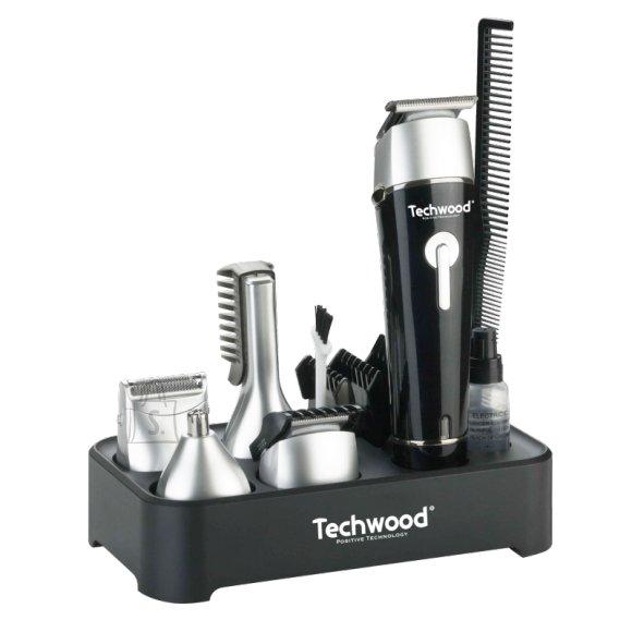 Techwood karvatrimmeri komplekt, must