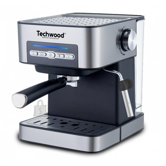 Techwood poolautomaatne espressomasin Inox Silver, hõbedane