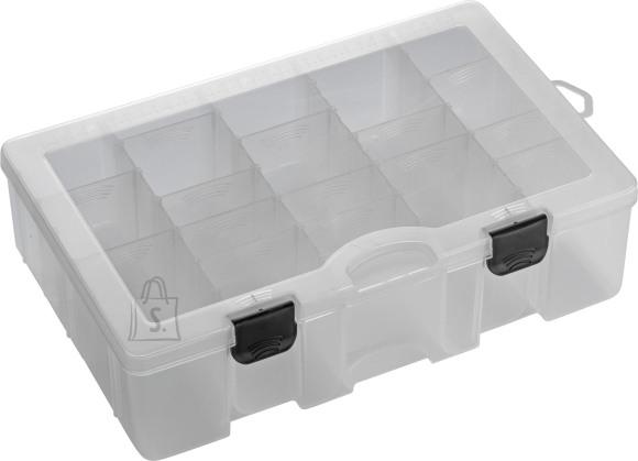 Plastilys landi- ja tarvikutekarp, 20 muudetavat jaotist, 35.5 x 23 x 9.5cm