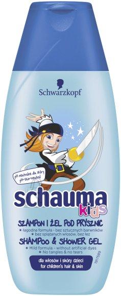 Schauma lasteshampoon / dushigeel poistele 4-8 a. 250 ml