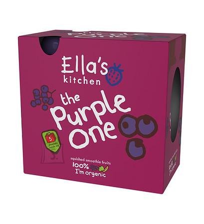 Ella's Kitchen Ella´s Kithcen puuviljapüree Lilla 5*90g multipakk