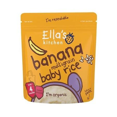 Ella's Kitchen banaani-mitmevailja beebi riis 125 g