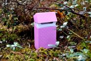 Caver silikoonist suitsupaki ümbris, roosa (täppidega)