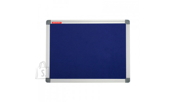 Tekstilltahvel Memoboards Classic 120x90 cm, alum. raam, sinine