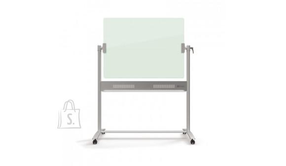 Klaastahvel magnetpinnaga NOBO DIAMOND 120x90 cm, kahepoolne, ratastel, valge