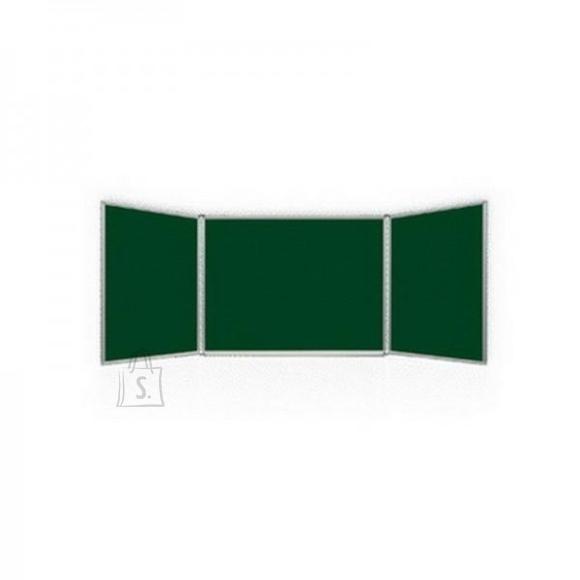 Kriiditahvel 2X3 roheline, 3 sektsiooniline,150x100/300 cm, metallraamiga, värvitud metall
