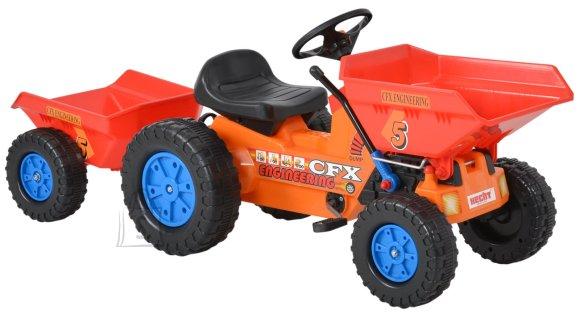 Hecht pedaalidega traktor lastele, käruga