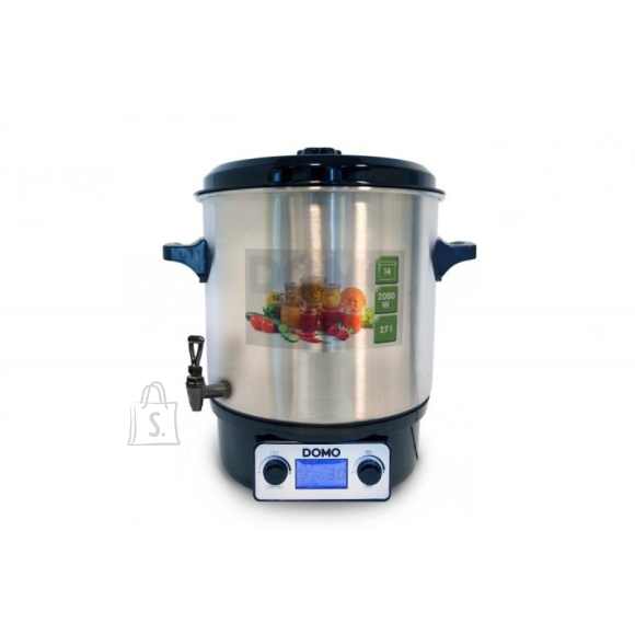 DOMO Multifunktsionaalne pott / pastörisaator 27L, kraaniga, roostevaba