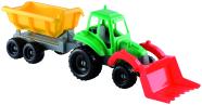 Ecoiffier väike traktor + käru 52 cm