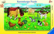 Ravensburger plaatpusle Farmiloomad aasal 15 tk