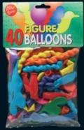 Bini Balloons figuurõhupallid 40 tk