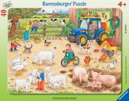 Ravensburger plaatpusle Suur farm 40 tk