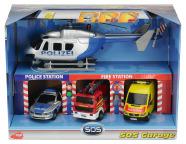 Simba mängukomplekt päästeautode garaaž