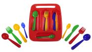 Plasto mängu noad-kahvlid-lusikad