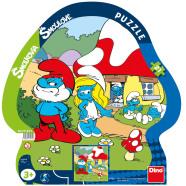 Dino siluett plaatpuzzle Smurf 21 tk