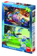 Dino pusle Smurf 2x66 tk