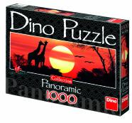Dino panoraampusle Kaelkirjakud päikeseloojangul 1000 tk