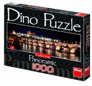 Dino panoraampusle Hradčany loss öösel 1000 tk