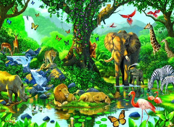 Ravensburger pusle Džungli harmoonia 500 tk
