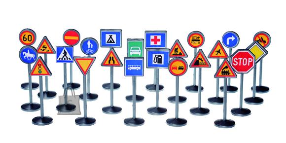 Plasto mängukomplekt liiklusmärgid
