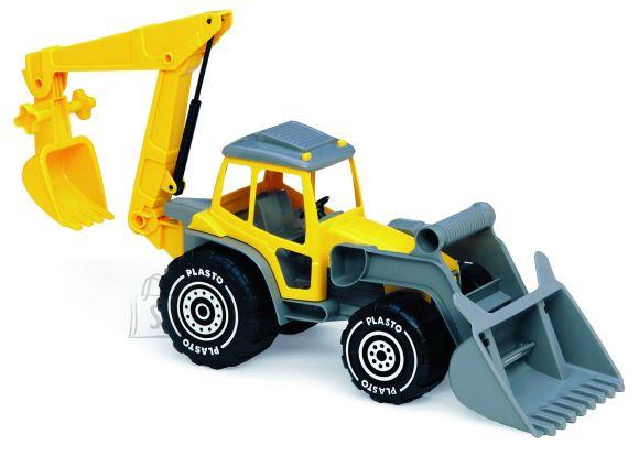 Plasto traktor saha- ja kopaga 48 cm