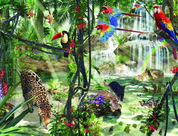 Ravensburger pusle Džungli impressionism 2000 tk