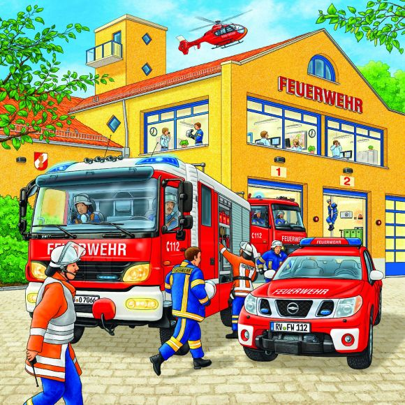 Ravensburger pusle Tuletõrjebrigaad 3x49 tk