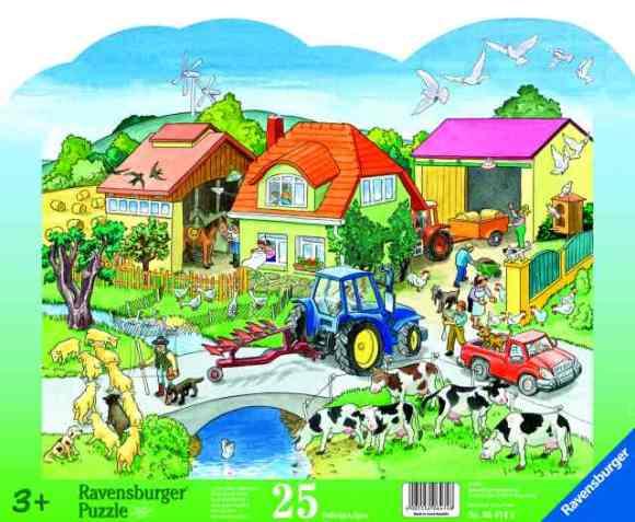 Ravensburger Plaatpusle Farm 25 tk