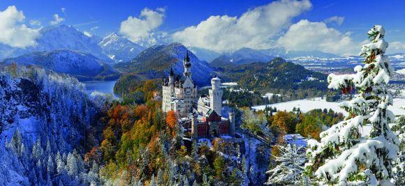 Ravensburger panoraampusle Neuschwanstein Castle 2000 tk