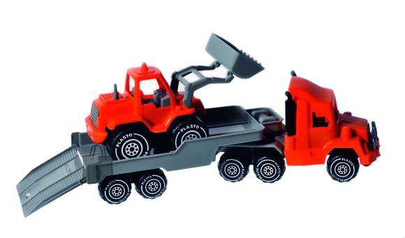 Plasto treilerauto ja buldooser 47 cm