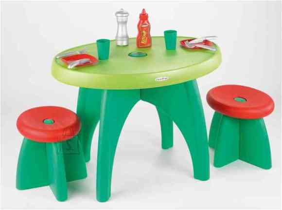 Ecoiffier aialaud + 2 tooli