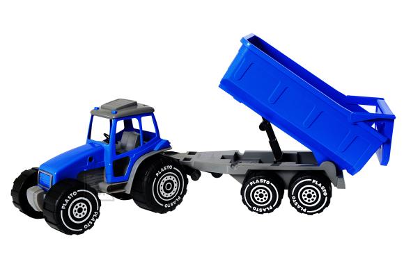 Plasto traktor järelkäruga 54 cm
