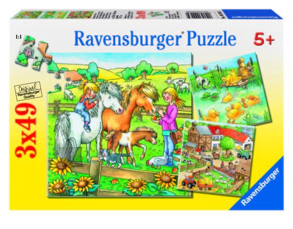 Ravensburger pusle Farmiaed 3 x 49 tk