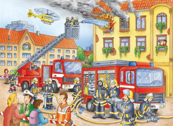 Ravensburger XXL pusle Tuletõrje osakond 100 tk