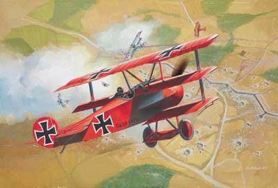 Revell mudellennuk Fokker DR.1 1:72