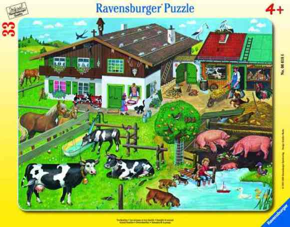 Ravensburger plaatpusle Loomade perekonnad 33 tk