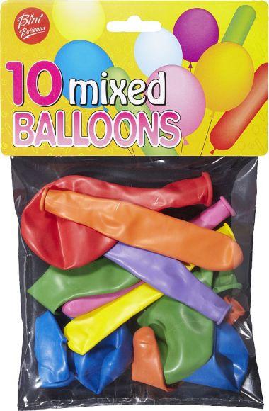 Bini Balloons õhupallid mix 10 tk