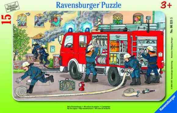 Ravensburger plaatpusle Tuletõrjeauto 15 tk